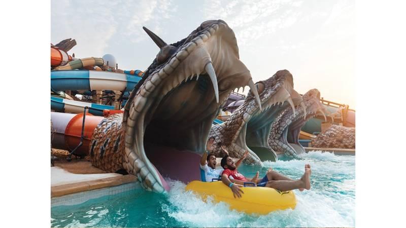 مدينة الألعاب المائية ياس ووترو ورلد لؤلؤة جزيرة ياس صحيفة الخليج