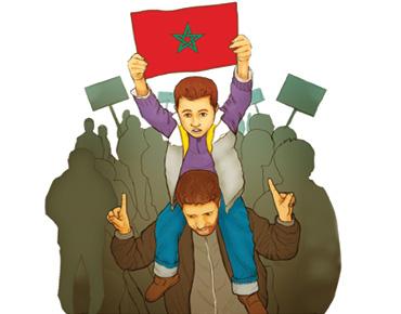 """""""العدل والإحسان"""" وحركة 20 فبراير في المغرب"""